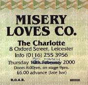 Misery Loves Co. Gig Ticket